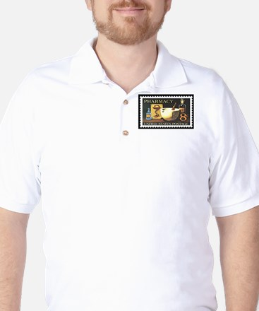 Pharmacist Stamp Collecting Golf Shirt