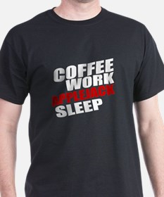 Coffee Work Applejack Sleep T-Shirt
