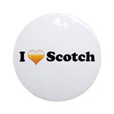 I Love Scotch Ornament (Round)