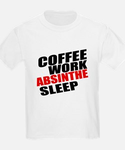 Coffee Work Absinthe Sleep T-Shirt