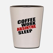Coffee Work Absinthe Sleep Shot Glass