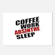 Coffee Work Absinthe Slee Postcards (Package of 8)