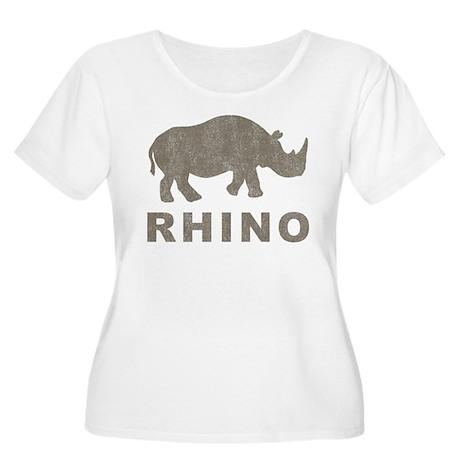 Vintage Rhino Women's Plus Size Scoop Neck T-Shirt