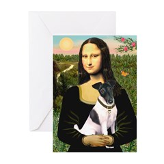 Mona's Smooth Fox Terrier (Bl Greeting Cards (Pk o