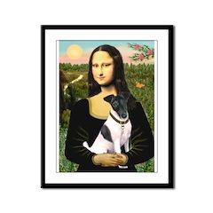 Mona's Smooth Fox Terrier (Bl Framed Panel Print