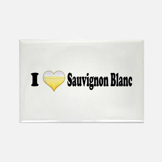 I Love Sauvignon Blanc Rectangle Magnet (10 pack)