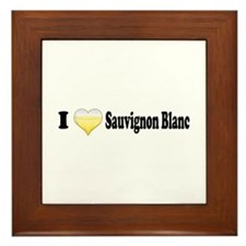 I Love Sauvignon Blanc Framed Tile