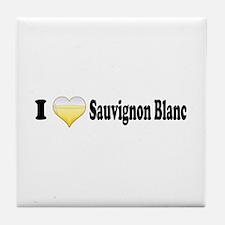 I Love Sauvignon Blanc Tile Coaster