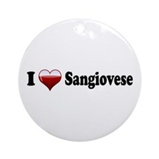I Love Sangiovese Ornament (Round)