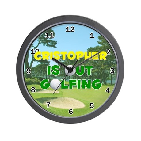 Cristopher is Out Golfing - Wall Clock