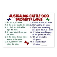 Australian Cattle Dog Property Laws 2 Postcards (P