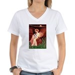 Angel / Smooth T (#1) Women's V-Neck T-Shirt