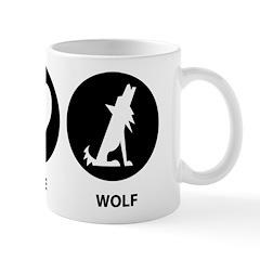 Peace Love Wolf Mug
