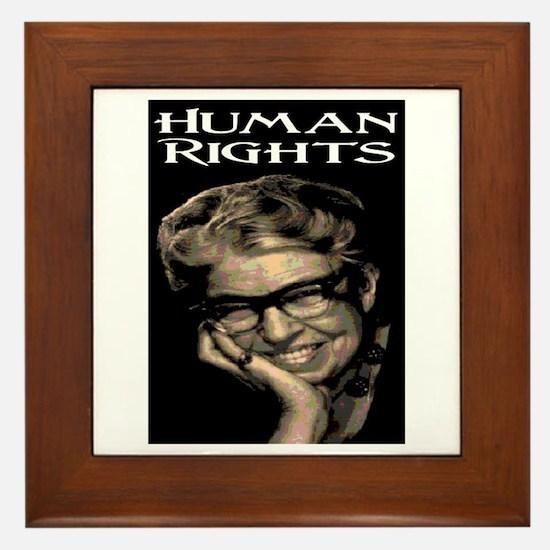 HUMAN RIGHTS Framed Tile