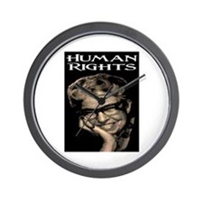 HUMAN RIGHTS Wall Clock