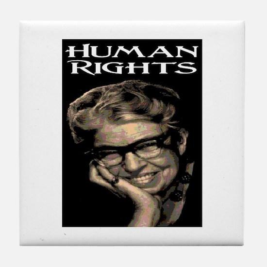 HUMAN RIGHTS Tile Coaster