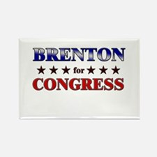 BRENTON for congress Rectangle Magnet