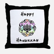 Happy Hanukkah Throw Pillow