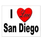 I Love San Diego Small Poster
