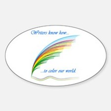 Writers know how... Oval Decal