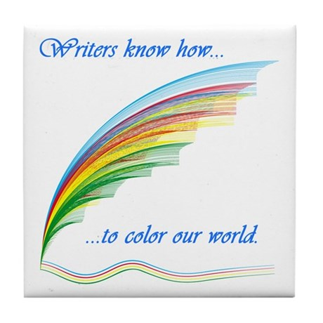 Writers know how... Tile Coaster