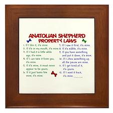 Anatolian Shepherd Property Laws 2 Framed Tile