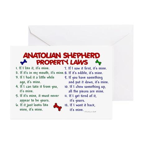 Anatolian Shepherd Property Laws 2 Greeting Cards