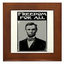 FREEDOM FOR ALL.. Framed Tile