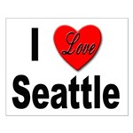I Love Seattle Small Poster