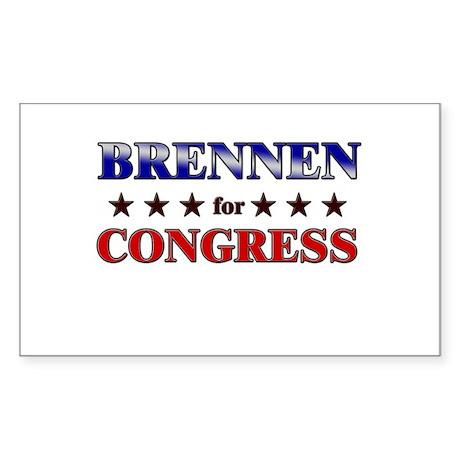 BRENNEN for congress Rectangle Sticker