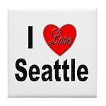 I Love Seattle Tile Coaster