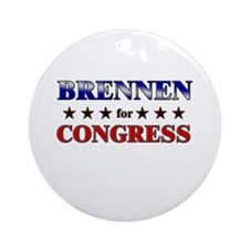 BRENNEN for congress Ornament (Round)