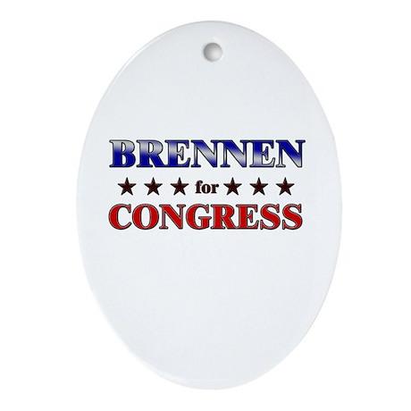BRENNEN for congress Oval Ornament