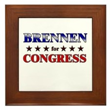 BRENNEN for congress Framed Tile
