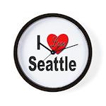 I Love Seattle Wall Clock