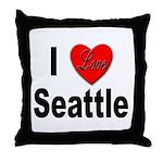 I Love Seattle Throw Pillow