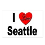 I Love Seattle Postcards (Package of 8)