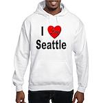 I Love Seattle (Front) Hooded Sweatshirt