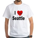 I Love Seattle (Front) White T-Shirt