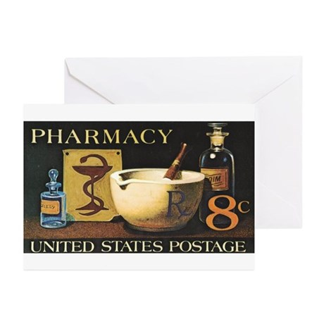 Pharmacist Stamp Collecting Greeting Cards (Pk of