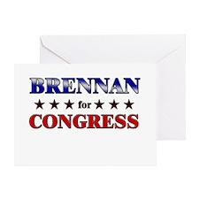 BRENNAN for congress Greeting Card