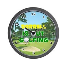 Darrell is Out Golfing - Wall Clock