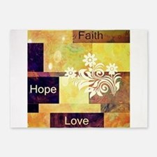 Faith Hope Love 5'x7'Area Rug