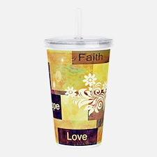 Faith Hope Love Acrylic Double-wall Tumbler