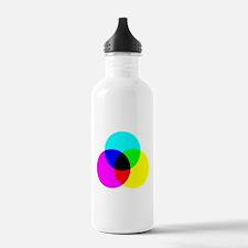 CMYK Color Model Water Bottle