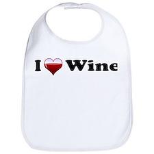 I Love Red Wine Bib