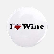 "I Love Red Wine 3.5"" Button"