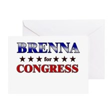 BRENNA for congress Greeting Card