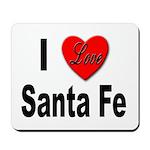 I Love Santa Fe Mousepad