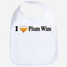 I Love Plum Wine Bib